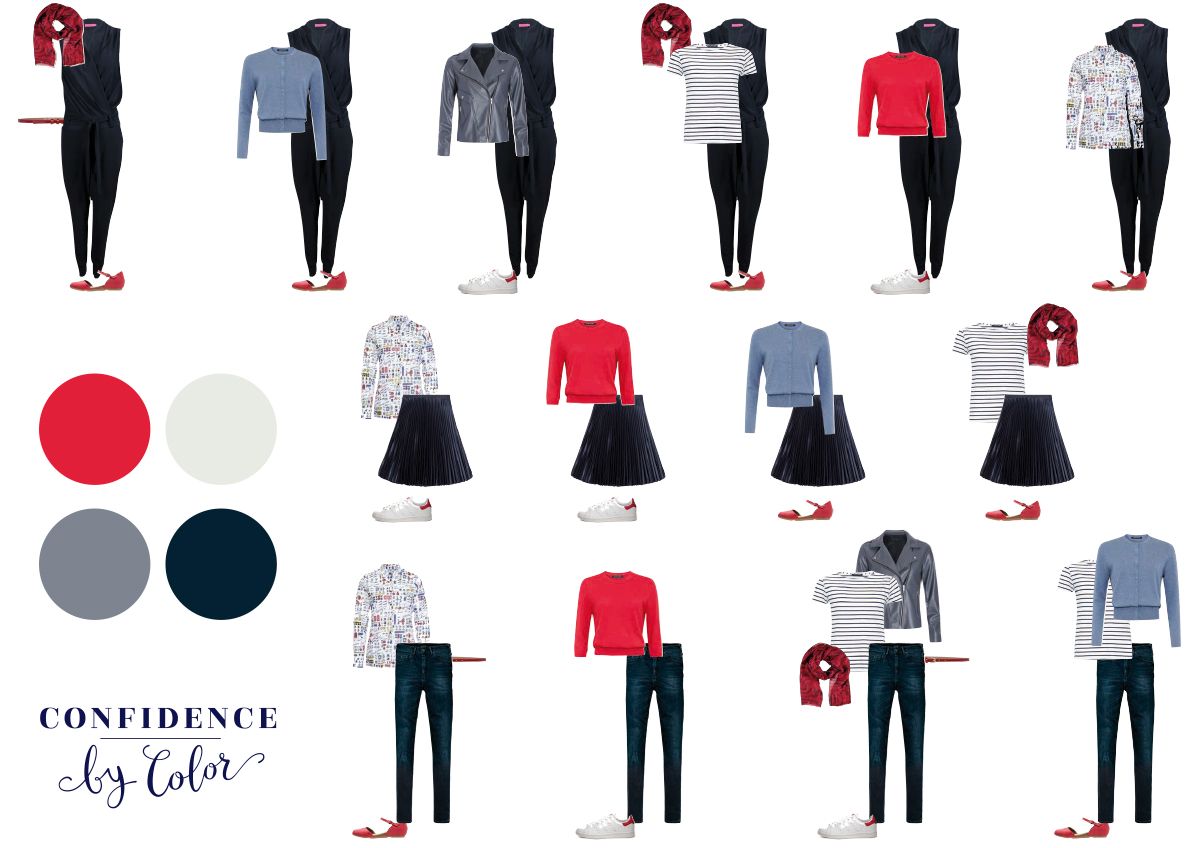 capsule wardrobe 7 kledingstukken 14 combinaties